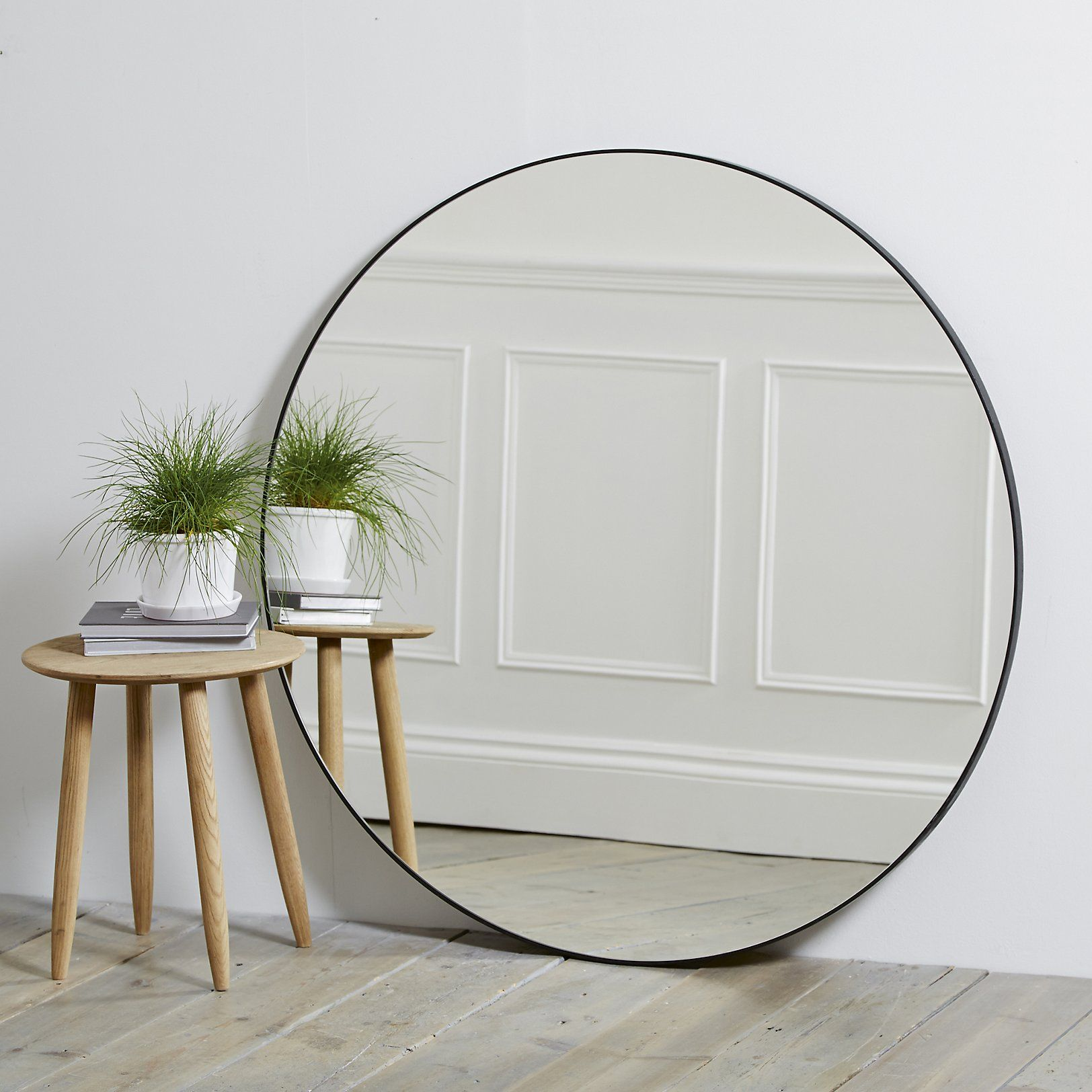 Buy Round Mirror Chiltern Thin Metal Round Mirror The White Company Uk