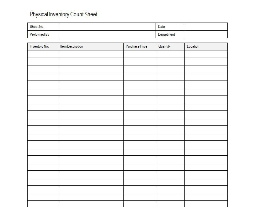 Inventory Sheet Sample Free Inventory Template Estate sale - inventory list example