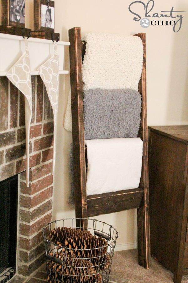 12 DIY Projects For $20 Or Less Blanket ladder, Diy blanket - living room blanket storage