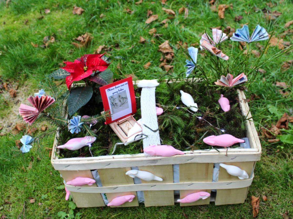 Blumentopf Verpacken Geschenk Gartenstecker Blumentopf Geschenk