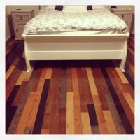 My awesome multi colored hardwood floor. Loving how it ...