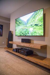 Floating shelves entertainment center | Built-in Cabinets ...