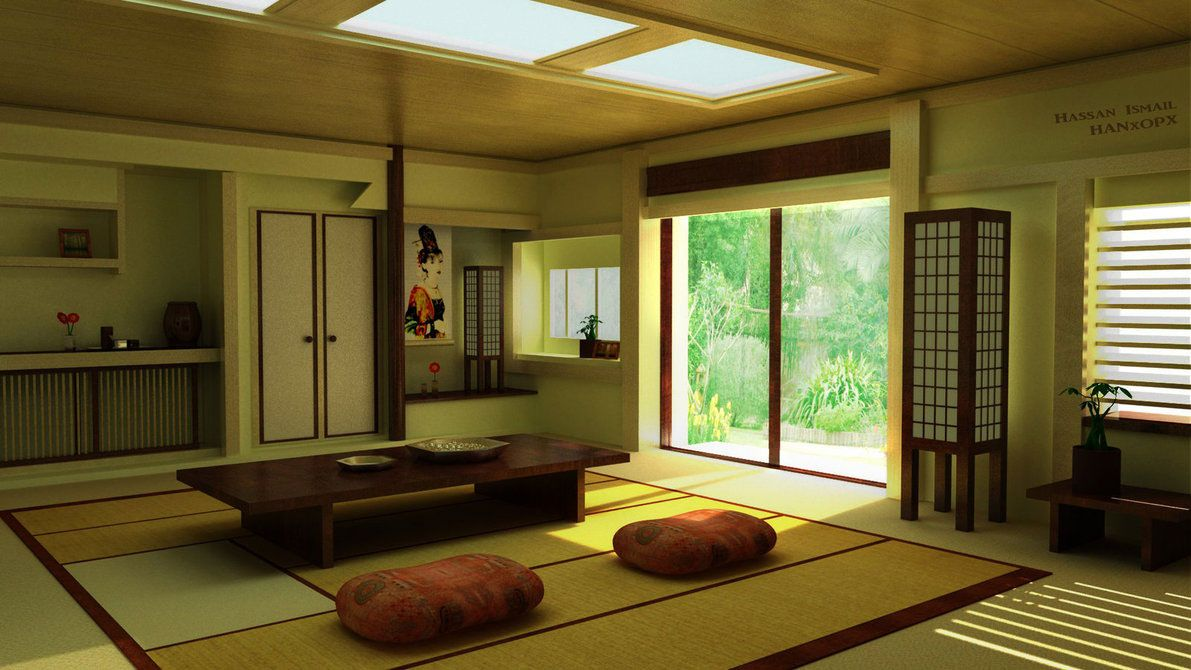 Traditional japanese living room furniture - Traditional Japanese Living Room Furniture 1