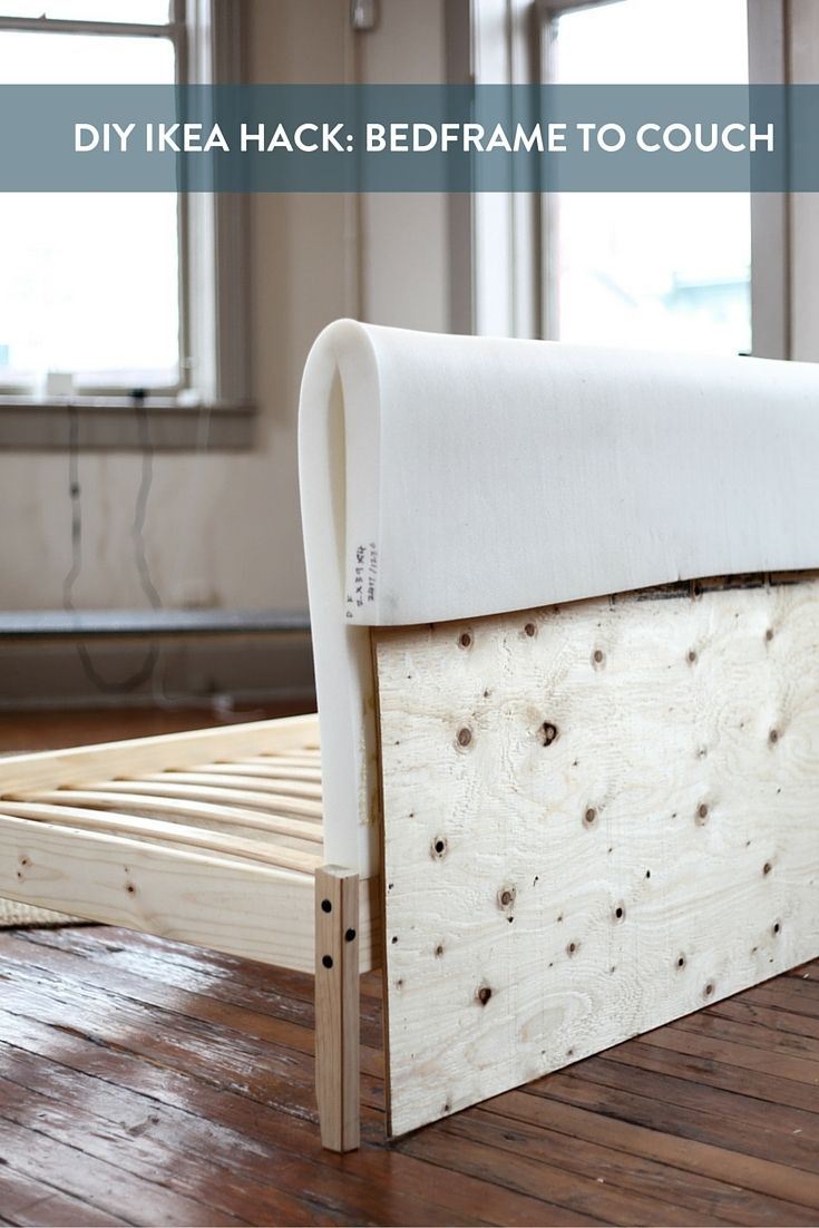 Sofa Bed Latex Mattress Ikea Hack: Turning A Fjellse Bedframe Into A Couch | Bed