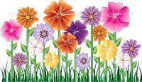 Cartoon Flowers Clip Art | Flower Garden | Stock Vector ...