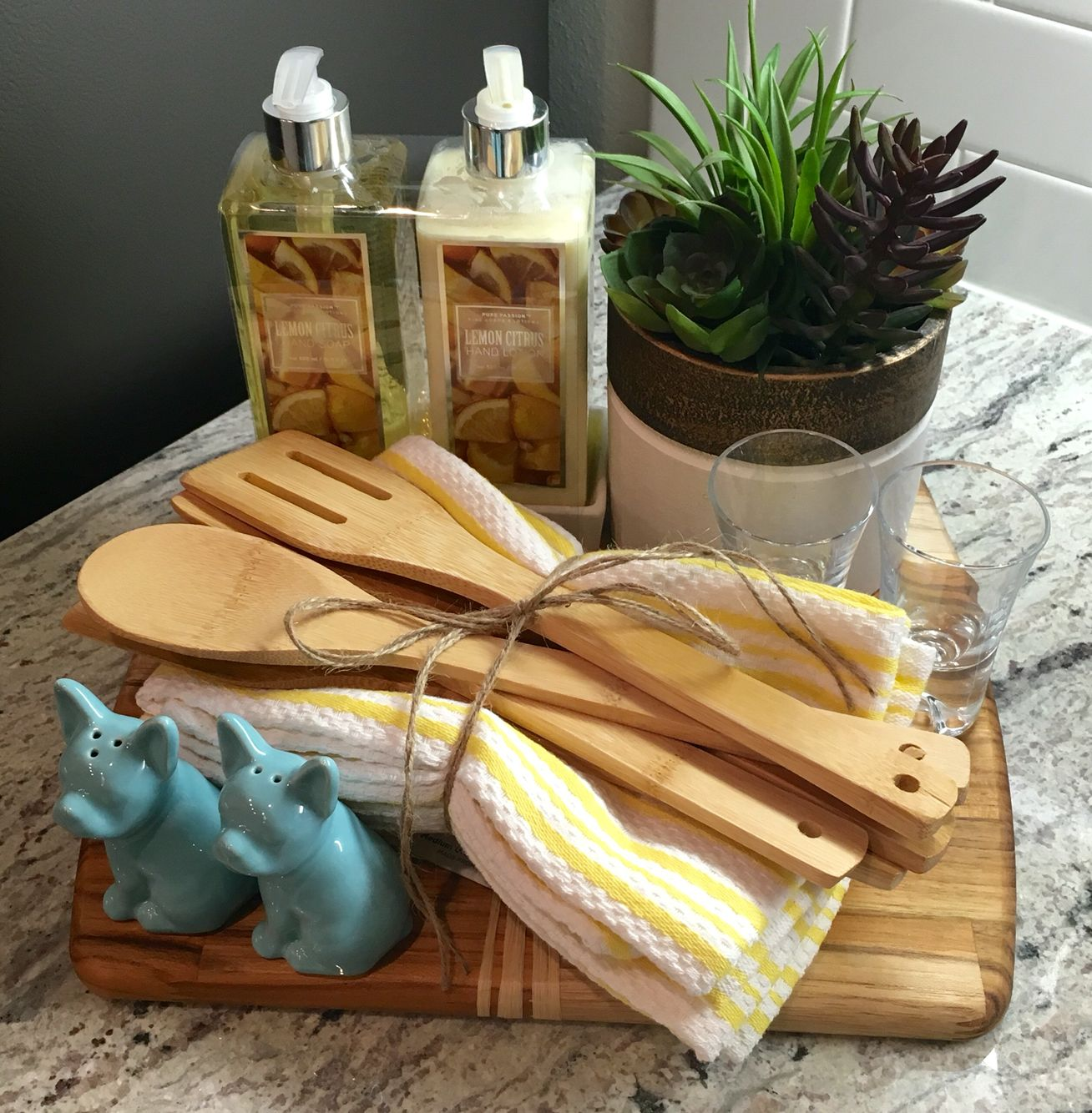 Homemade Housewarming Gift Ideas Housewarming Gift Wooden Chopping Board Hand Towels