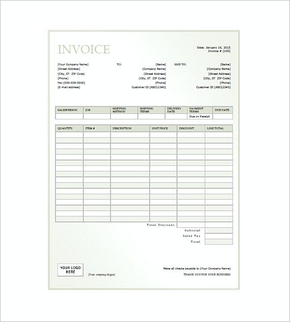 general invoice form