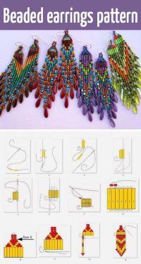 Beaded earrings tutorial and pattern | DIY and Tutorials ...