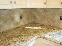 4x4 travertine tile backsplash - Google Search | Kitchens ...