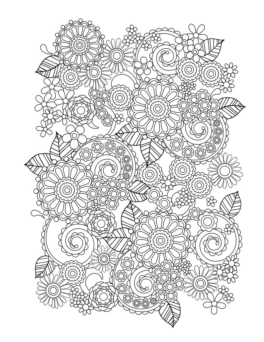 Flower designs i create coloring books to stimulate creativity adult