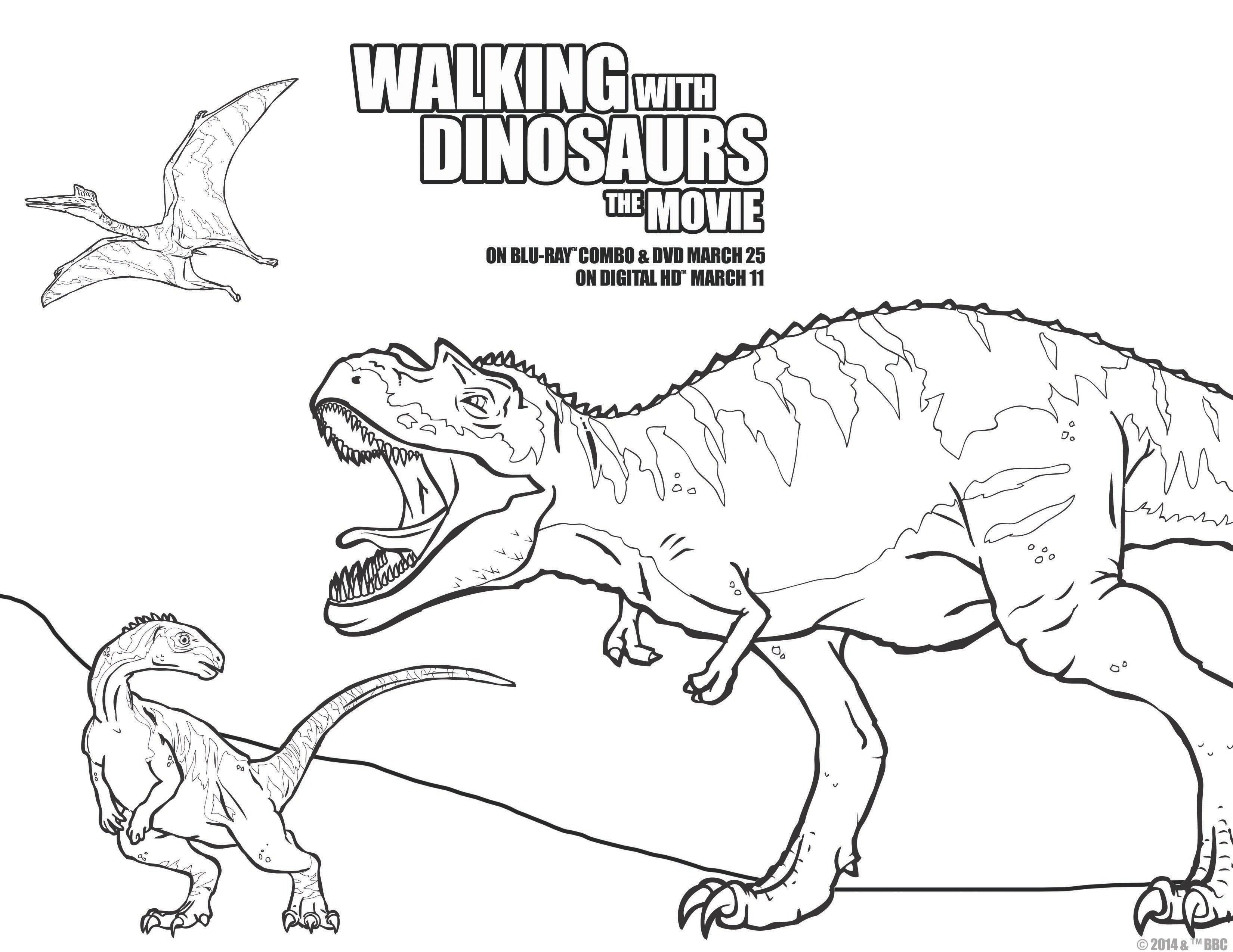 walkingwithdinosdvd free printable walking with dinosaurs the movie coloring pages and activity sheets