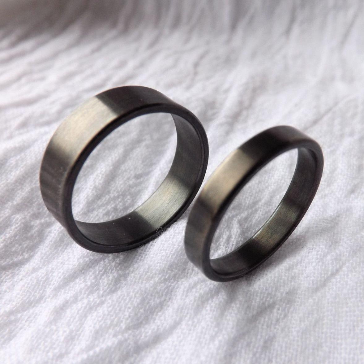 matching black wedding bands Matching Black Wedding Bands