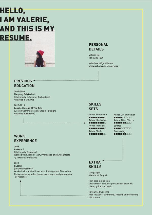 ... Resume By Valerie Ng, Via Behance Create Perfect Resume In   Create The Perfect  Resume ...