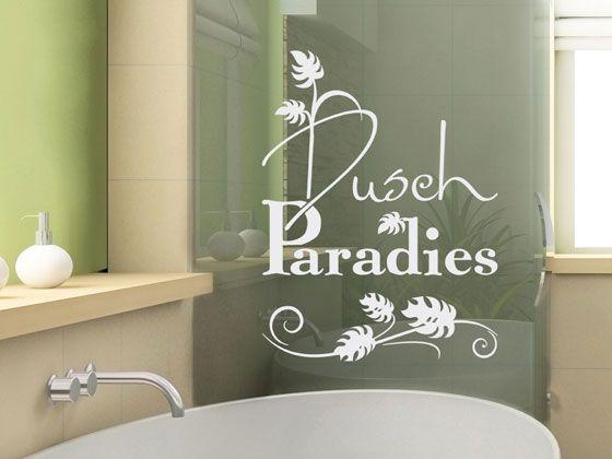 Glasdekor Fensterfolie Fensterdekor für Badezimmer Spruch Blätter - badezimmer fensterfolie