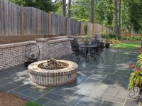 Stone Fire Pit Designs Traditional Patio with Atlanta ...