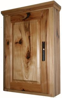 Rustic Hickory Medicine Cabinet - Hickory Wood Rustic ...