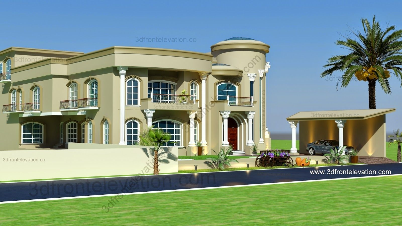 Decoration Arabe Maison Modern Arabic Villa Design 2015 3d Front Elevation