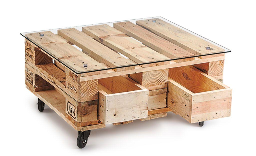 Gartenmöbel aus Europaletten Couchtisch europalette, Europalette - holz mobel aus europaletten bauen