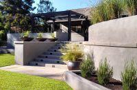 modern retaining wall | modern backyard garden concrete ...