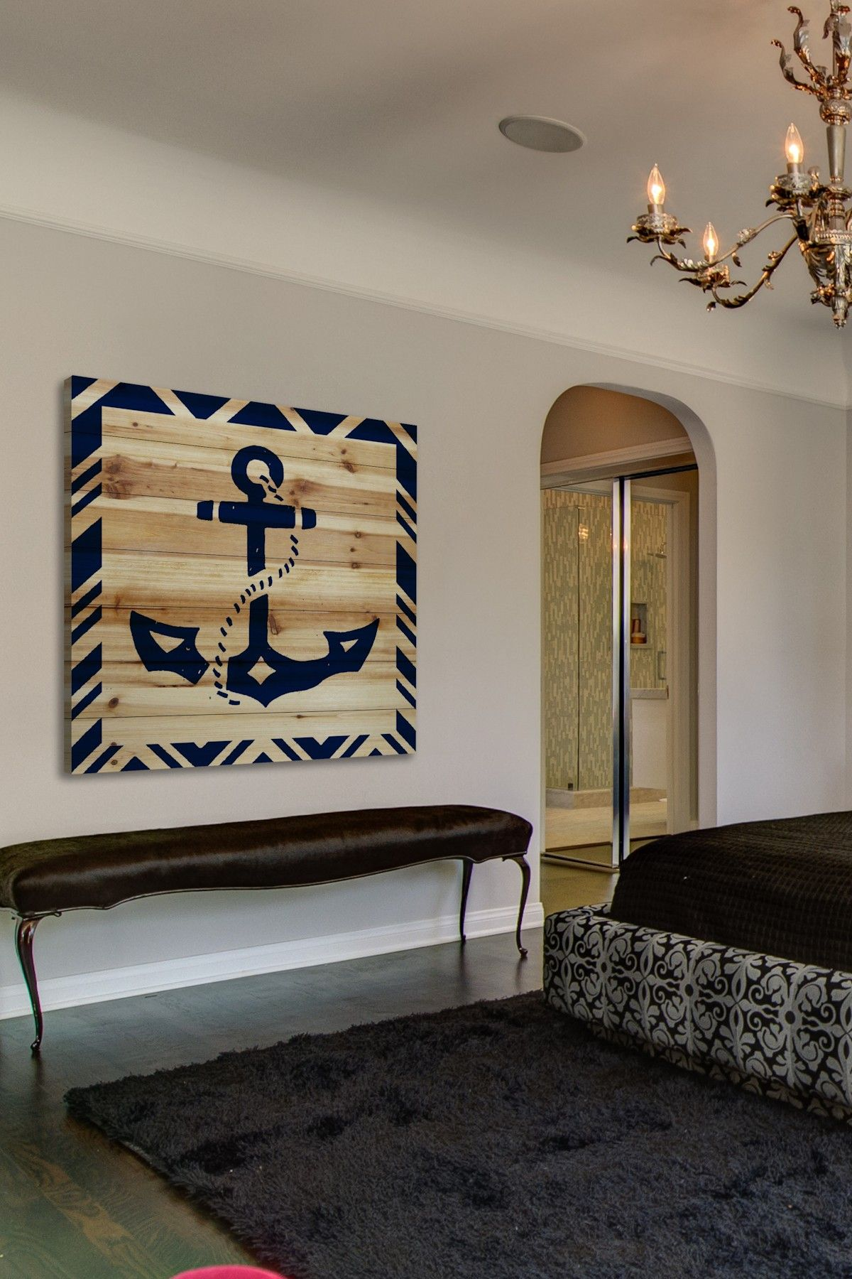 Decorating With Wall Art Diy Idea For A Large Nautical Wall Decor Piece Anchor