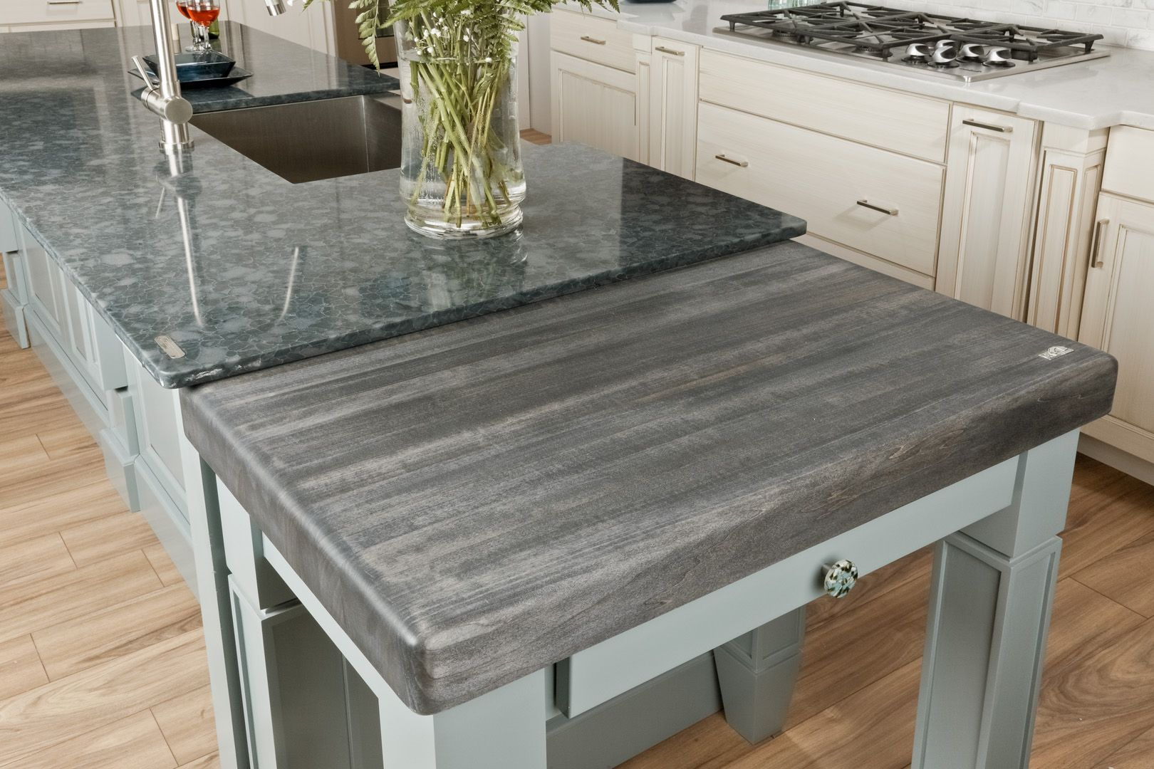 Safest Countertops Custom Butcher Block Top By Cafe Countertops Http Www