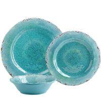 Carmelo Aqua Melamine Dinnerware | Melamine dinnerware ...
