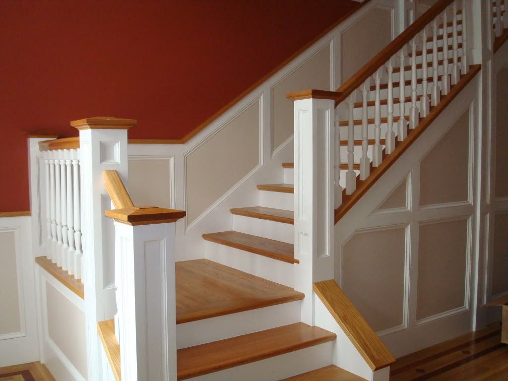 Paneled Staircase Wainscoting Going Up Stairs Help Wainscoting On Stairs