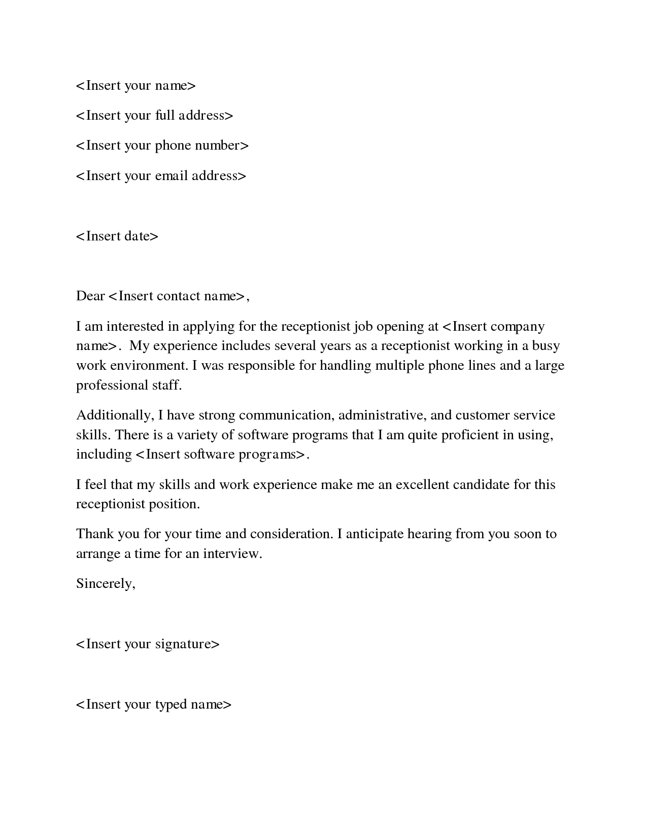 cover letter for customer service examples