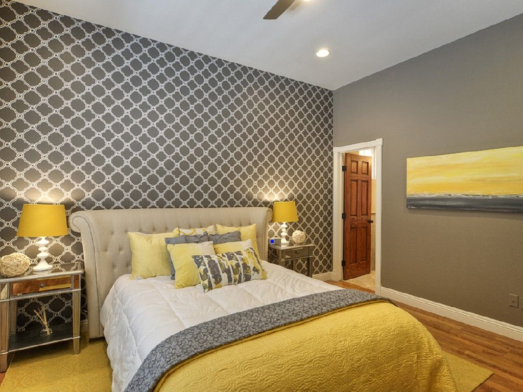 Bedroom Design Grey And Yellow Chic Yellow And Grey Bedroom Bedroom Pinterest Gray