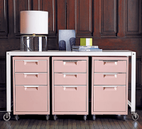 pretty pink filing cabinets | Home office and study ...