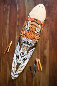 Hand-painted longboard by Andreas Preis // Tiger // www ...