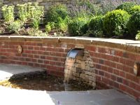 brick garden wall designs | Water Water Everywhere ...
