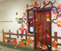 Fall Pumpkin Patch Classroom Door Decoration - features ...