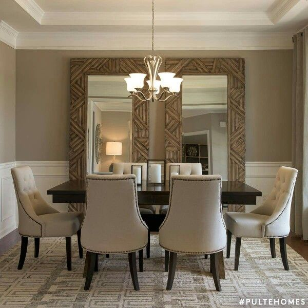 large mirrors in dining room nice