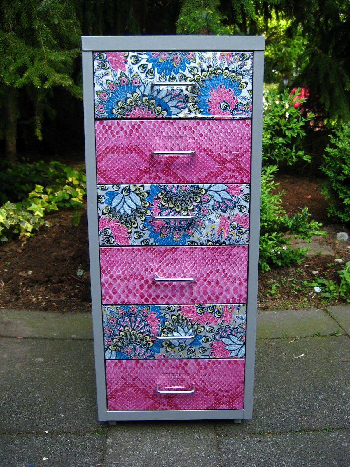 Köln Second Hand Möbel Filing Cabinet Decorating Diy Using Decopatch Paper And