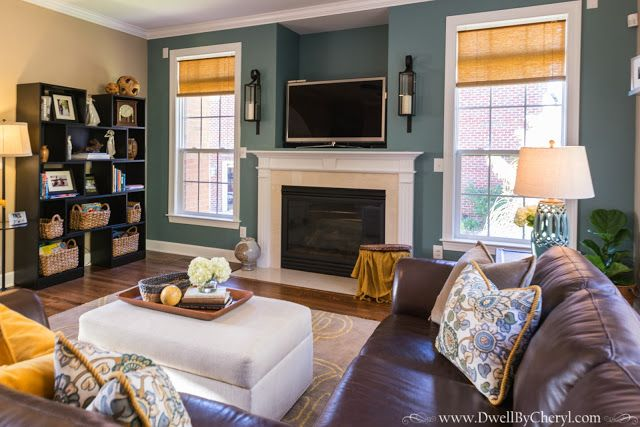 Create a cozy and kid-friendly living room design with Moody Blue - cozy living room colors