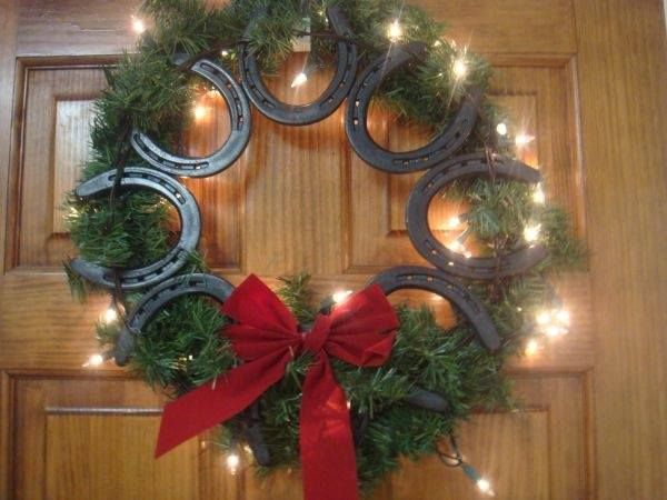 fer a cheval couronnes Pinterest Horse shoes - western christmas decorations