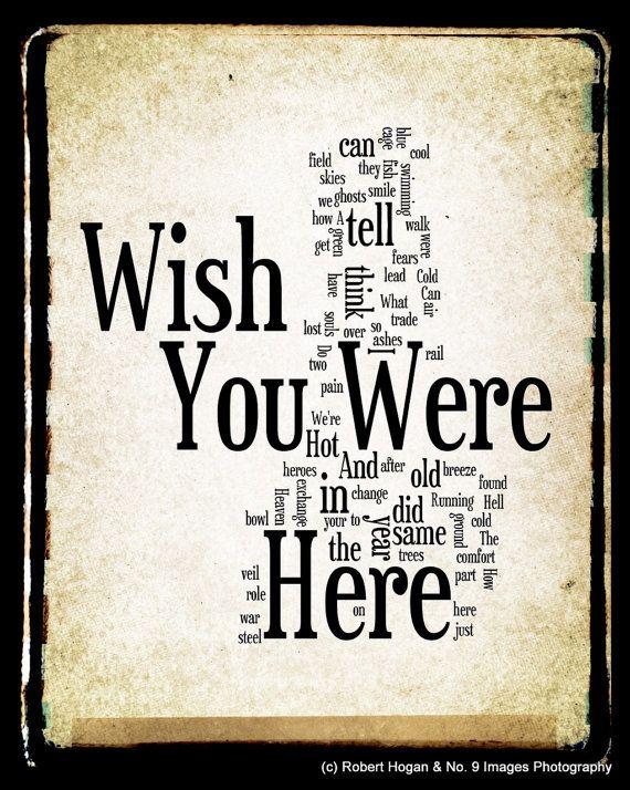 Syd Barrett Quote Wallpaper Wish You Were Here Lyrics Pink Floyd Word Art Word