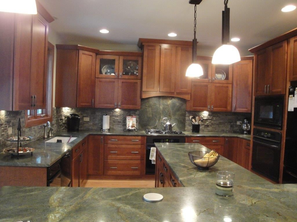 Are Granite Countertops Out Beautiful Green Granite Countertops Check Out The Full