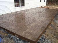 Concrete Stamped Stone Patio