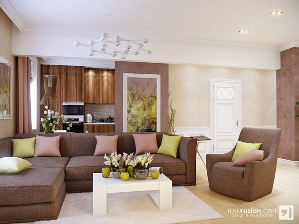 Living Room Color Scheme Ideas in Pastel Hue and Earth Tone earth - color for living room