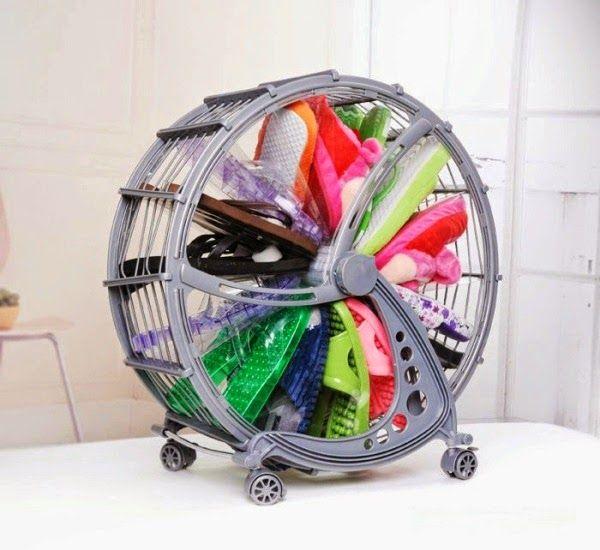 The Ferris Wheel Shoe Rack, Rotating Shoe Rack ~ Goods Home Design - goods home design