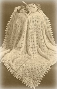 Vntg Lacy Baby SHAWL / Blanket Knitting by ...