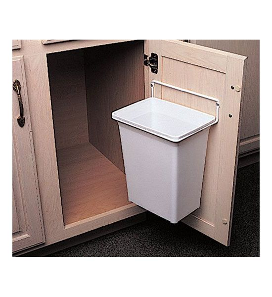The Door Mounted Trash Can gives you a convenient trash receptacle - kitchen trash can ideas