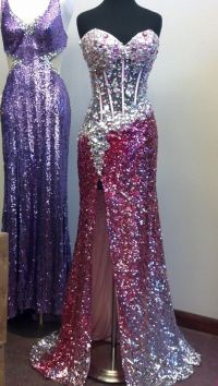 gorgeous sparkly pink and silver 2014 prom dress from AE ...