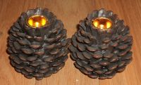 Pine Cone Candle Holders | Candles & Lights | Pinterest ...