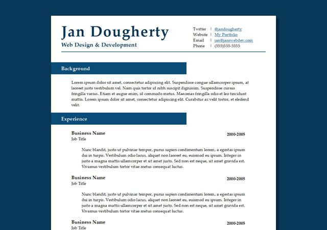 50 Free Responsive HTML5 Web Templates Professional resume - resume layout template