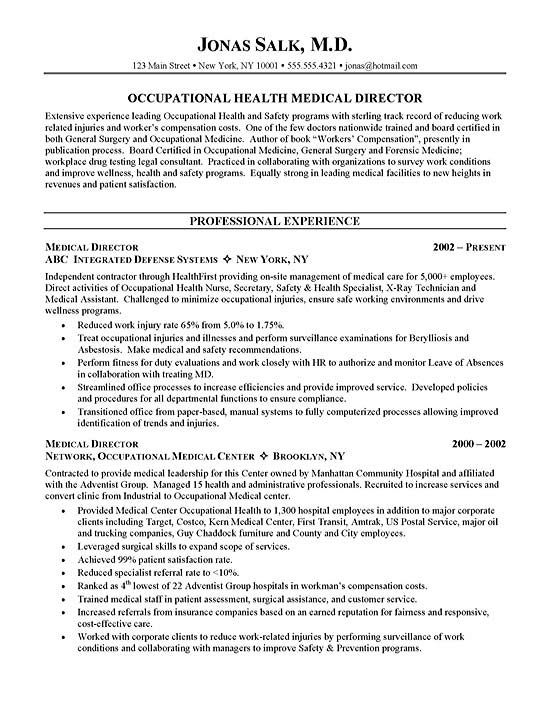 Medical Doctor Curriculum Vitae Example - http\/\/wwwresumecareer - curriculum vitae examples