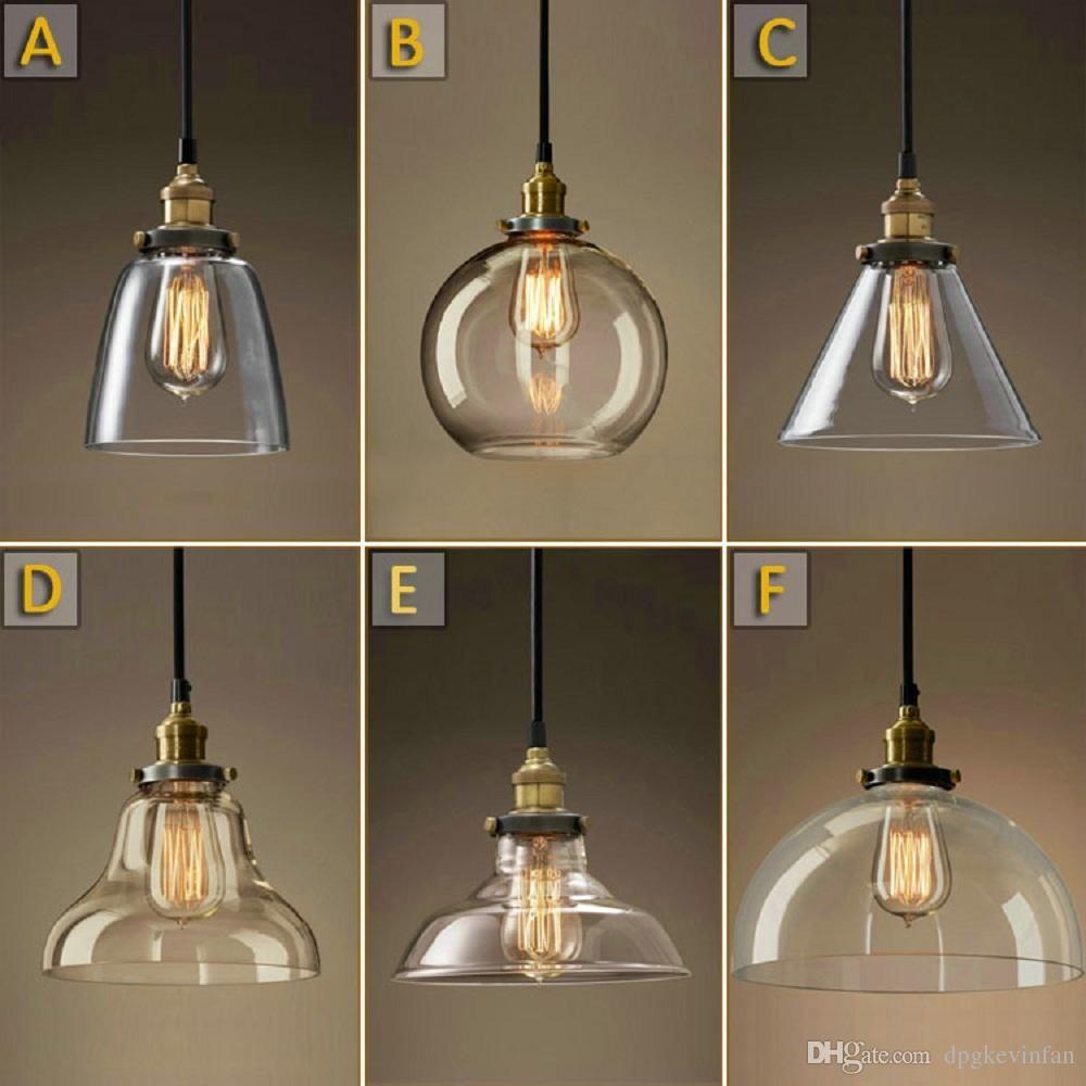 Vintage Chandelier DIY Led Glass pendant Light Pendant