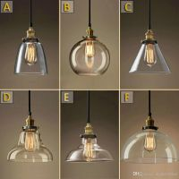 Vintage Chandelier DIY Led Glass pendant Light Pendant ...
